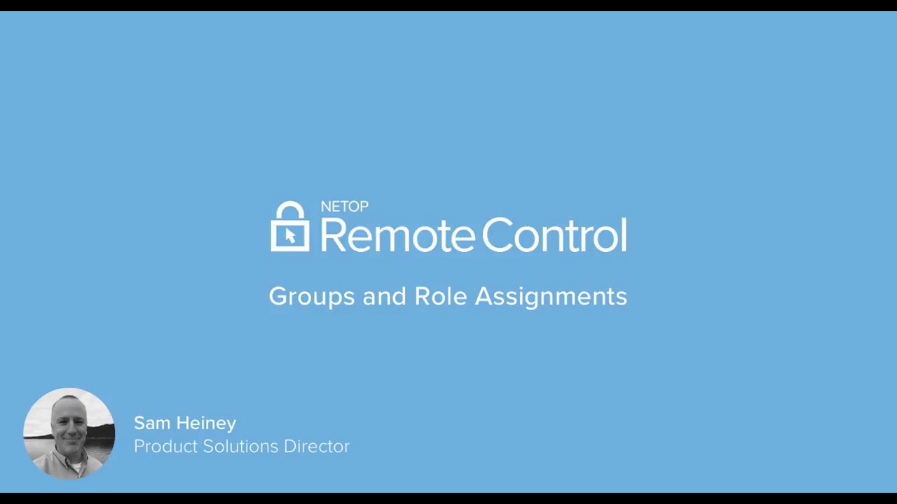 Netop Remote Control Portal - Groups and Role Assignments