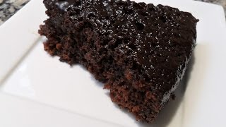 Repeat youtube video Cake au chocolat rapide et facile...كيك بالشوكولا بمقادير بسيطة