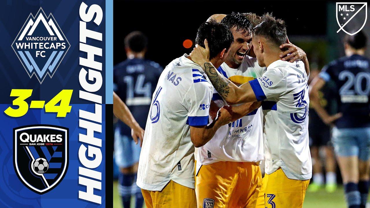 Vancouver Whitecaps FC 3-4 San Jose Earthquakes | 7 Goal Thriller | MLS Highlights
