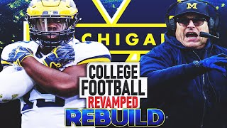 Rebuilding Michigan - We Land our 1st 5 STAR QB JJ McCarthy! | NCAA Football 14 REVAMPED Rebuild