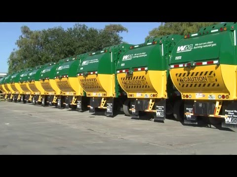 Clean Cng Waste Management Trucks In Collier County