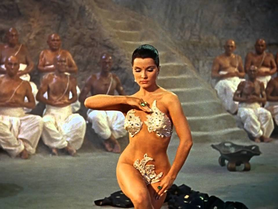 The Indian Tomb - Debra Paget - Sexy Snake Dance Scene - HD