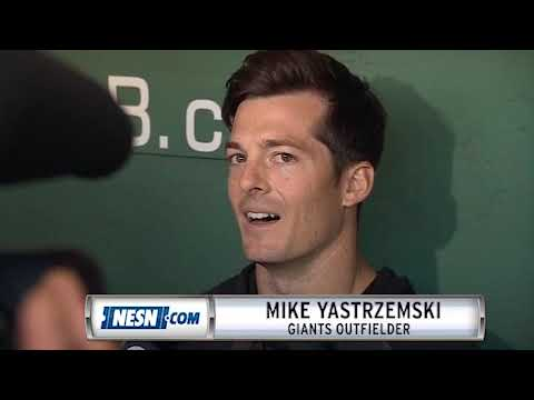 Mike Yastrzemski Reacts To Making His Debut At Fenway Park