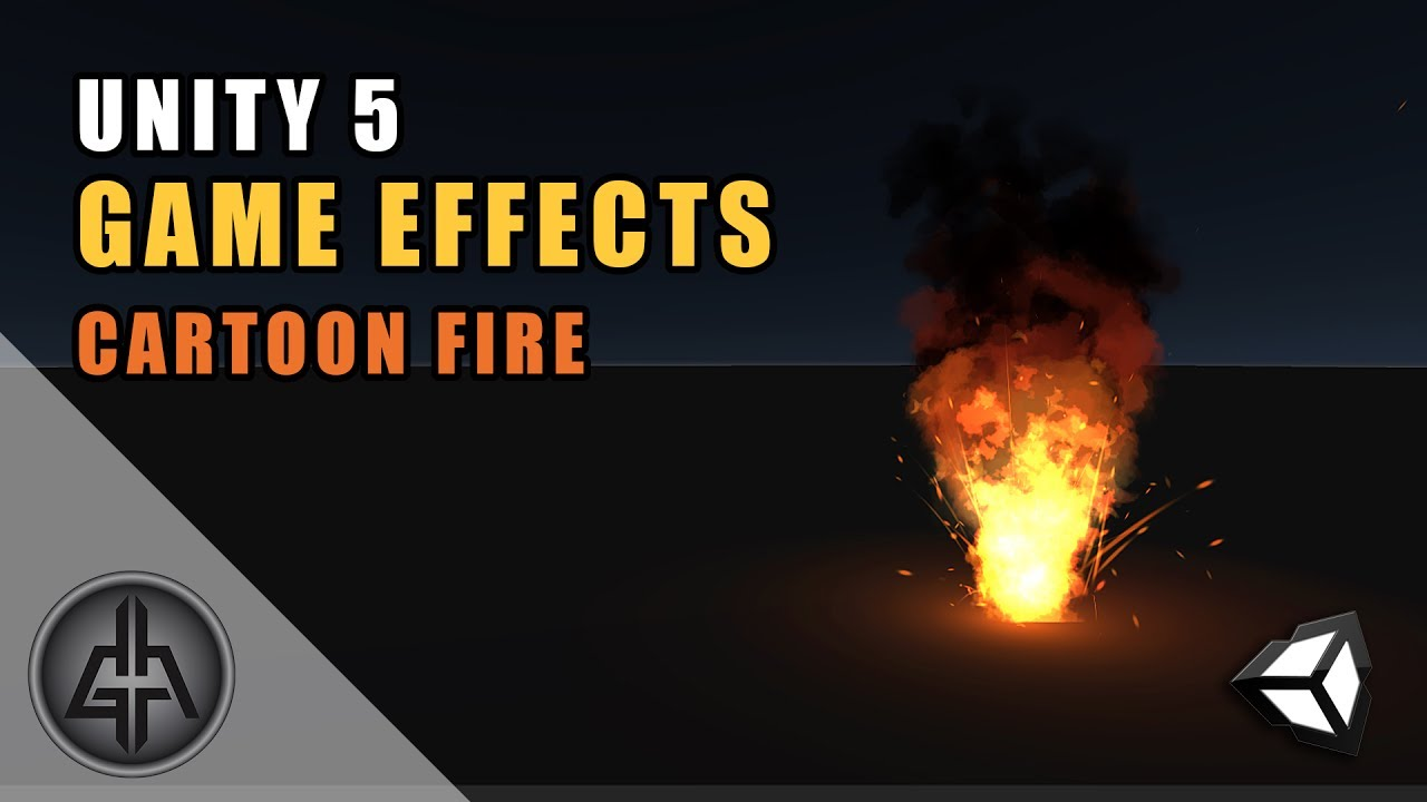Unity 5 - Game Effects VFX - Cartoon Fire / Flames