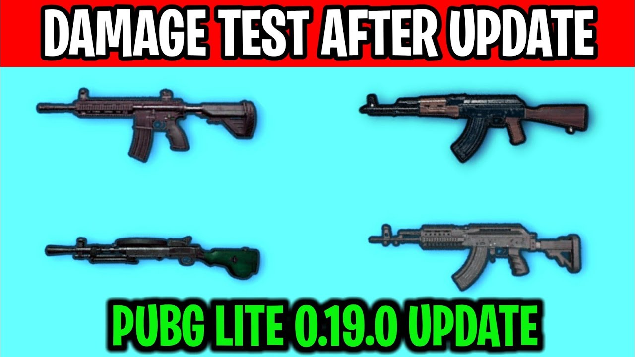 PUBG LITE GUN DAMAGE TEST || PUBG LITE NEW 0.19.0 UPDATE || PUBG LITE DAMAGE LIST AFTER NEW UPDATE |