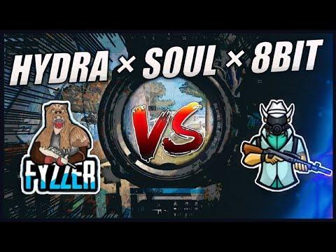 SOUL Vs HYDRA Vs 8BIT | Hydra FyzZeR Against Top Indian Teams | Tier 1 Customs | #hailhydra