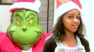 Bad Baby Grinch Stole CHRISTMAS! Shasha and Shiloh Fun Video - Onyx Kids