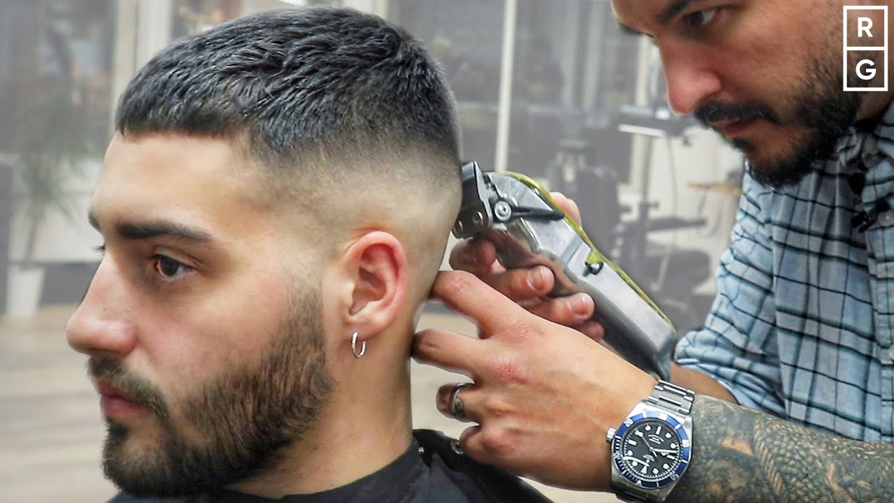 Short Crop Haircut Simple Short Fade Haircut For Men Youtube