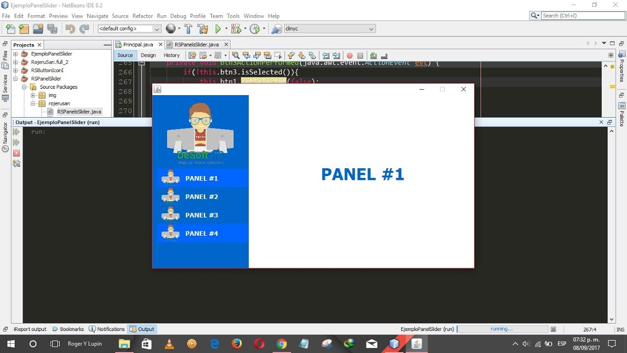 Java Swing UI Design - Como Hacer Un Menú Lateral Con JPanel Slider