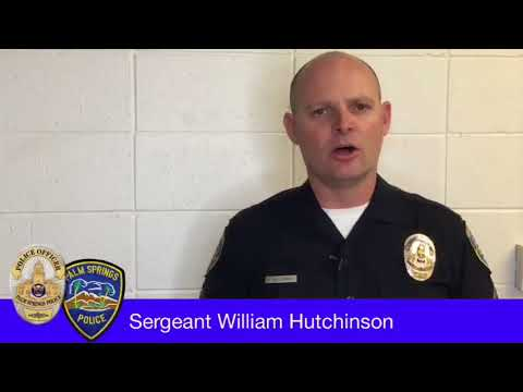 PALM SPRINGS POLICE ISSUED A RESPONSE on  officer 1st amendment violation  Auditor videographer