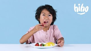 Kids Try Miracle Berries | Kids Try | HiHo Kids