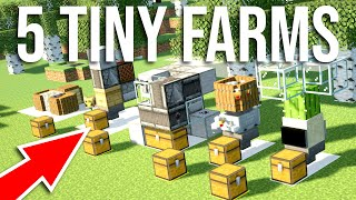 5 TINY Farms You Need to Build in Minecraft!