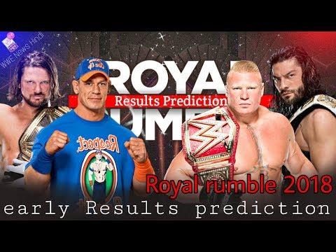 Royal Rumble 2018 Early Result Prediction And Analysis Hindi ! WWE News Hindi Royal rumble 2018