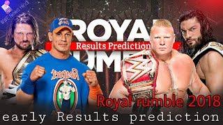 Royal Rumble 2018 Early Result Prediction And Analysis Hindi  WWE News Hindi Royal rumble 2018