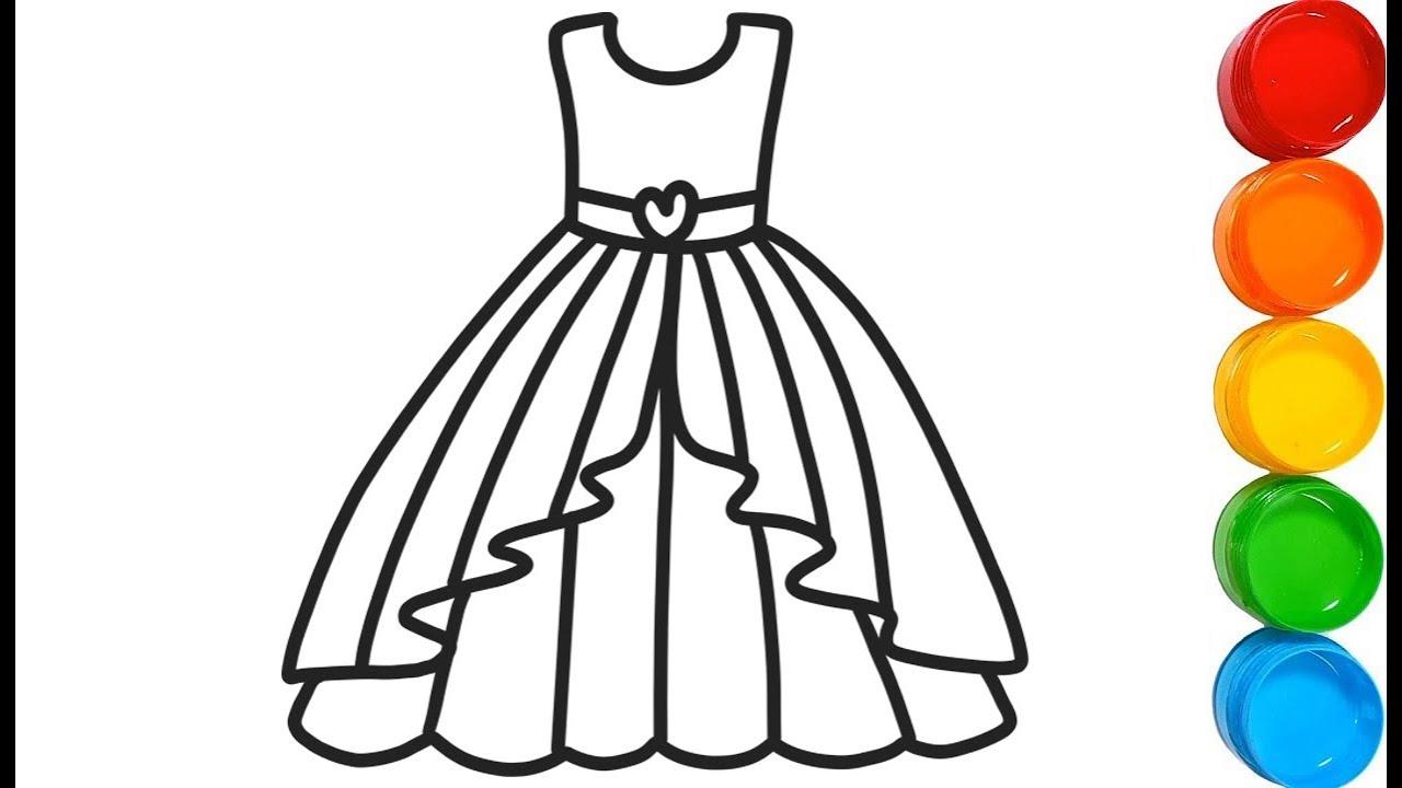 Menggambar Dan Mewarnai Gaun Pesta 👗 Halaman Belajar