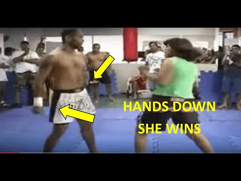 Woman Vs Man MMA Fight, Head Butts, Slaps, Slams And More.  Why Do Men Do Girl Vs Boy Fights?