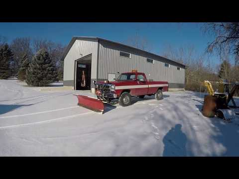 Tommy Retro   Plowing Snow With The 1991 Dodge W350 Pickup Truck