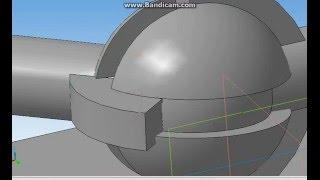 Одношаровой ШРУС - компас 3д сборка
