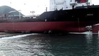 Launching Kapal Tanker Elisabet satu DRU shipyard Bandar Lampung