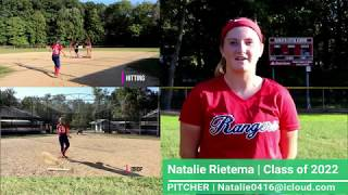 Natalie Rietema NCAA Softball Skills Video Pitcher Class of 2022