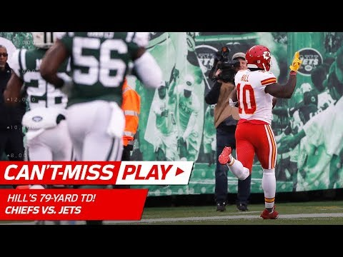 Tyreek Hill Turns on the Jets for 79-Yd TD Catch-'n-Run! | Can't-Miss Play | NFL Wk 13 Highlights