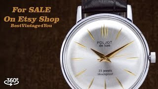 poljot de luxe unique ultra slim mens soviet dress watch from 70s for sale on etsy