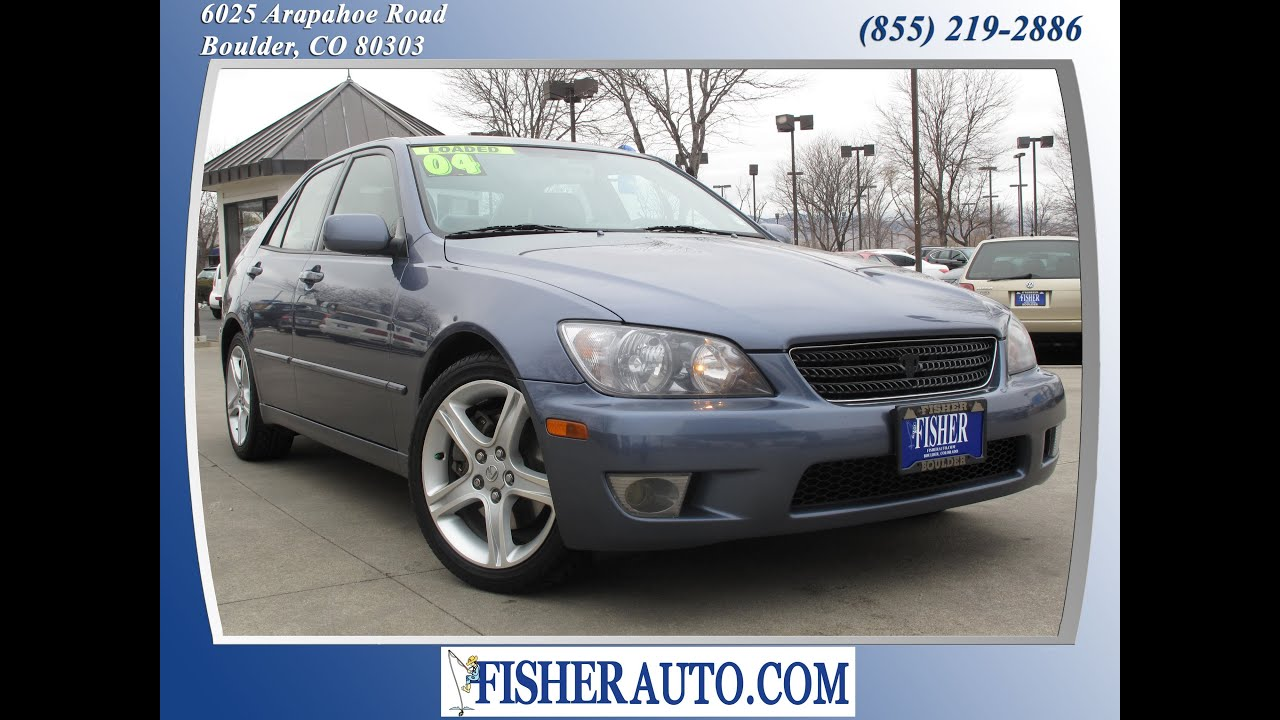 2004 Lexus IS300 blue | $14,900* | Boulder, Colorado | Fisher Auto (Stock  #135307A)