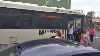 NJT NABI 40-SFW #5229 on the 156 to Englewood Cliffs via Park Ave (Outside) in HD
