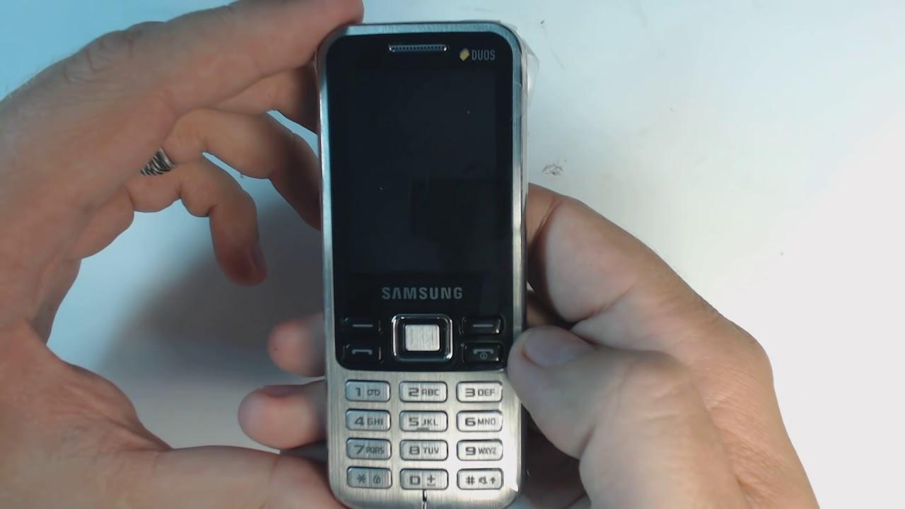 Samsung C3322 Factory Reset Youtube