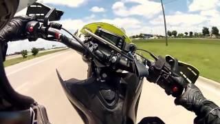 Мото падение глазами мотоциклиста  - Больно даже смотреть   2016