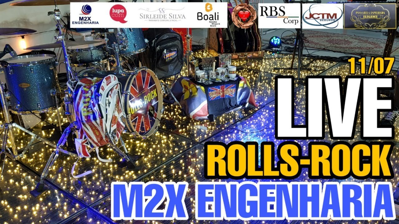Live  Rolls Rock -  M2X engenharia  ( Live solidária )
