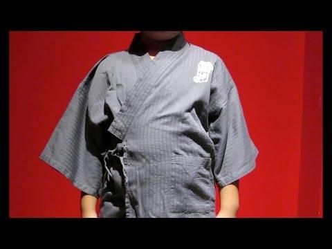 子どもの甚平の着方  How to wear a boy's kimono