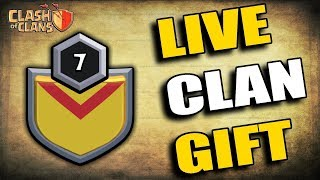 🔴 LIVE LVL 6 CLAN GIFT EVENT FREE 😎 JOIN NOW || Clash Of Clans LIVE
