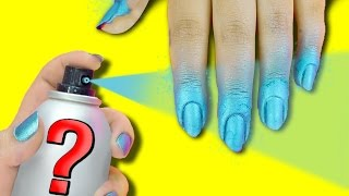 NAIL HACK: DIY SPRAY ON NAIL POLISH? $5 DUPE!(Nails Inc PAINT CAN Spray On Nail Polish DUPE - DIY Spray on Nail Polishes! - QUICK way to paint your nails! Click here to SUBSCRIBE:http://goo.gl/fKnKR6 ..., 2016-03-23T18:00:06.000Z)