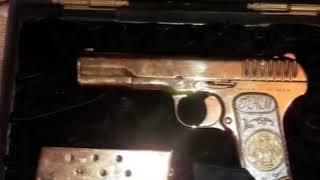 У врио премьера Дагестана при обыске изъяли золотой ТТ, два АК и боеприпасы