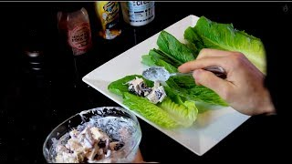Easy Healthy Chicken Wrap ★ Low Carb