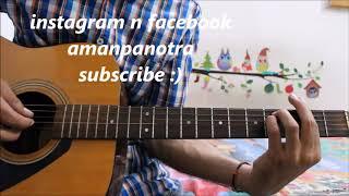 Finger Plucking & Finger Strumming ( For MULTIPLE SONGS ) - Hindi guitar lesson beginners easy
