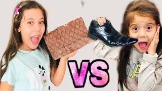 ÇİKOLATA VS GERÇEK YİYECEK CHALLENGE !! Real vs Chocolate Food Challenge !!