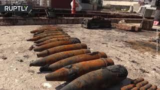 Divers retrieve 5,000 explosive items from sunken WWII ship in Crimea