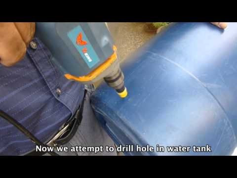 How to connect Main water Line to tank in Self Watering Gravity Fed  Drip Irrigation