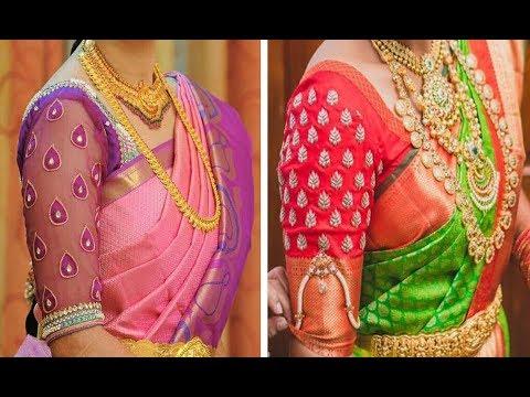 Latest Silk Saree Blouse Designs 2019 Collection | Raw Silk Blouse Designs | Blouse Neck Designs |