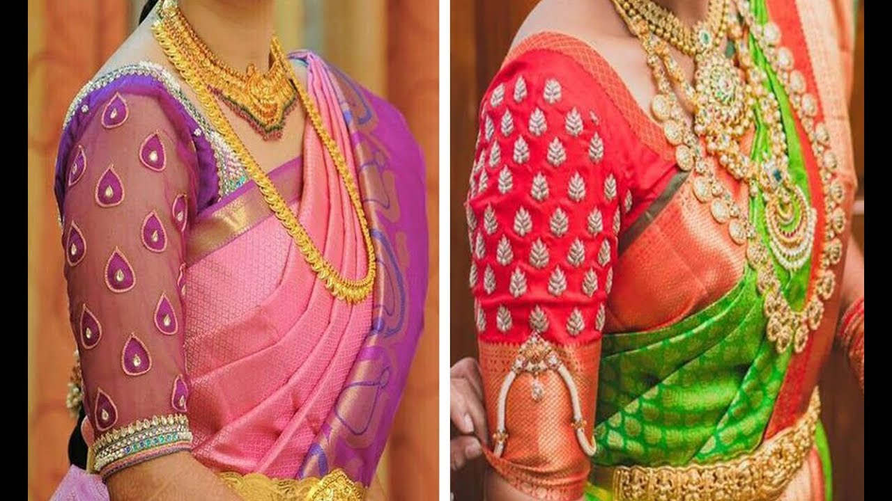 Latest Silk Saree Blouse Designs 2019 Collection Raw Silk Blouse Designs Blouse Neck Designs
