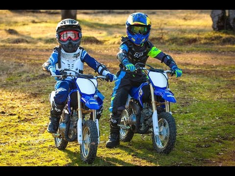 Boys First Time On Dirt Bikes - Yamaha TTR 50 (2016) | Gabe and Garrett