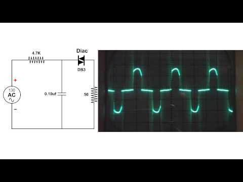 DIAC Circuit, oscilloscope demo