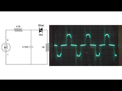 DIAC Circuit, oscilloscope demo