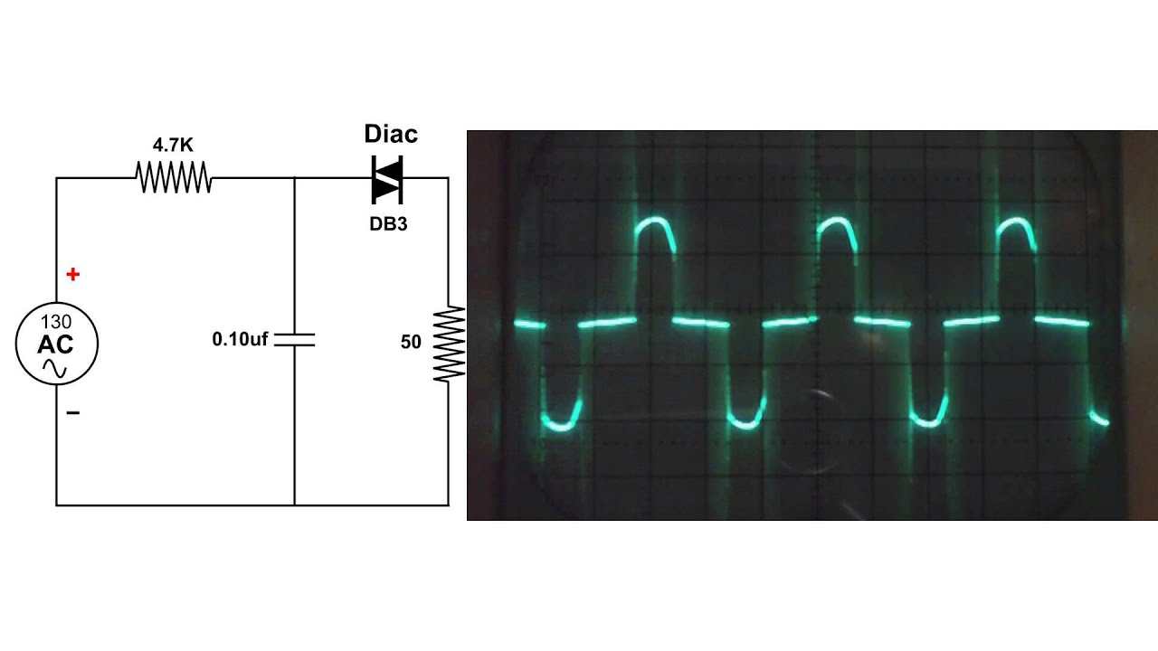 Diac Circuit Oscilloscope Demo