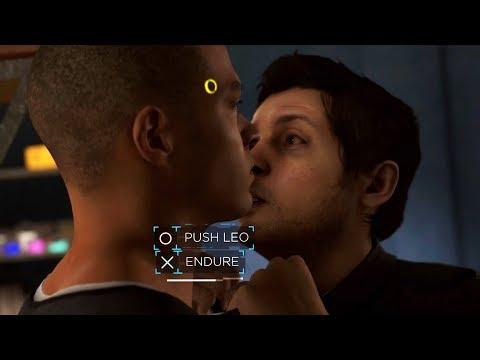 Marcus Push Leo vs Endure - Both Outcomes - Detroit Become Human