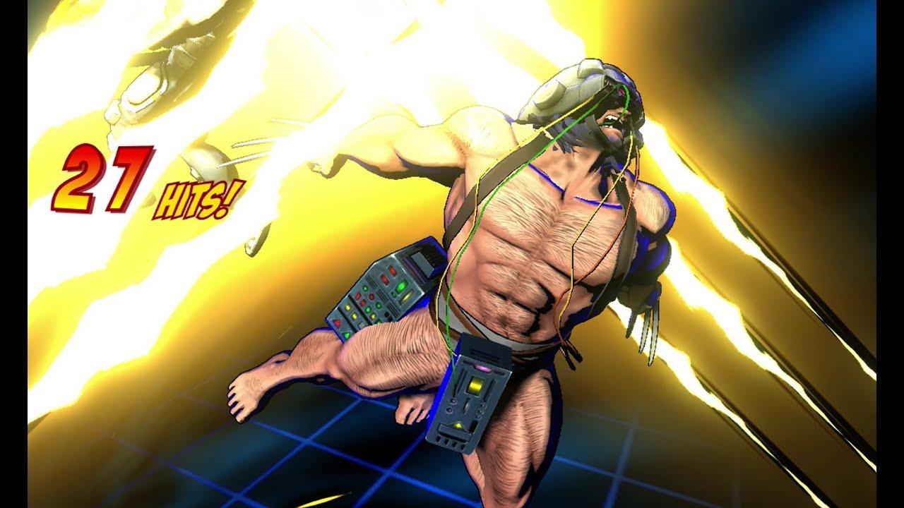 Ultimate Marvel Vs Capcom 3 All Wolverine Hyper Combos Alternate Costume Youtube