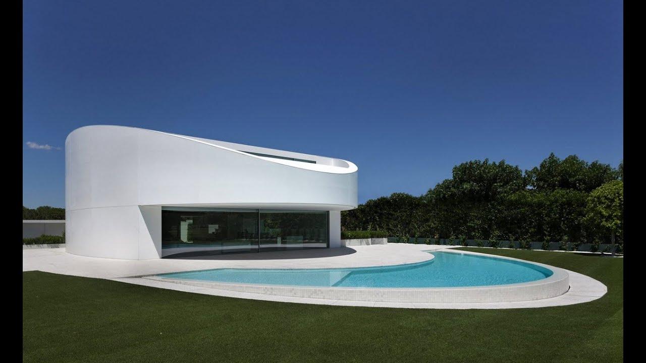 Dise o de casa moderna de dos pisos ovalada planos youtube for Diseno de interiores de casas