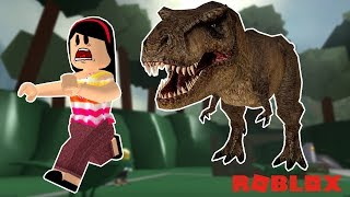 AUNT GRACE IN THE WORLD OF DINOSAURS! -ROBLOX (DINOSAUR HUNTER)